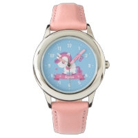 Cute Unicorn with Wings Girls Personalized Watch