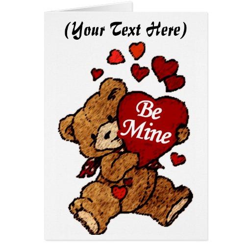 Cute Valentines Day Card Teddy Bear Personalized Zazzle