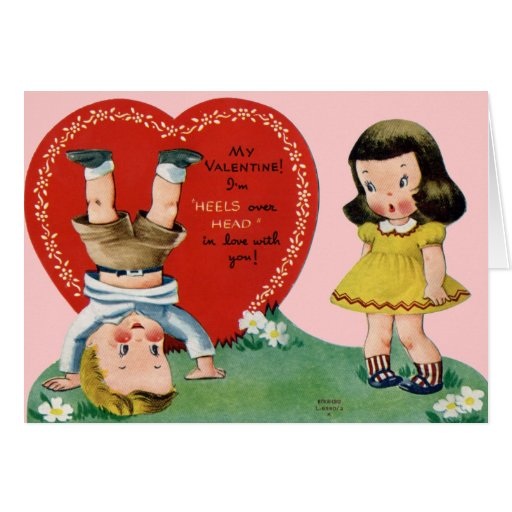 Cute Victorian Valentine Card Zazzle