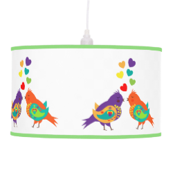 Cute Whimsical Love Birds and Sweet Hearts Lamps