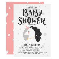 Cute & Whimsical Unicorn Baby Shower Invitation I