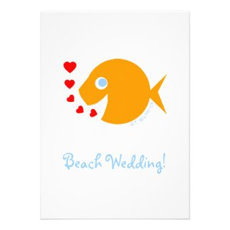 Cute Whimsical Wedding Save The Date Invitation