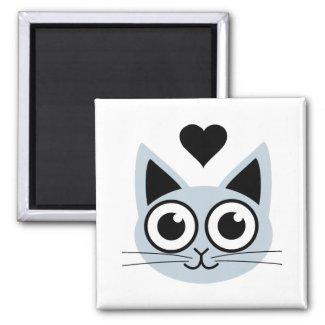 Cutest Blue Cat magnet