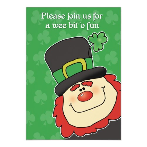 CUTEST LEPRECHAUN St. Patricks Day Invitation