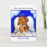 Dachshund  Angel Sympathy Card