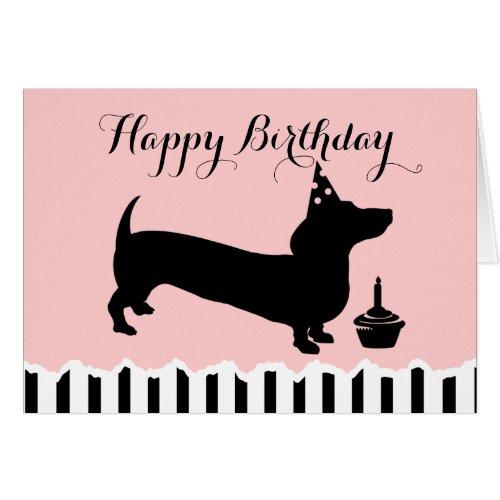Dachshund Birthday Greeting Card