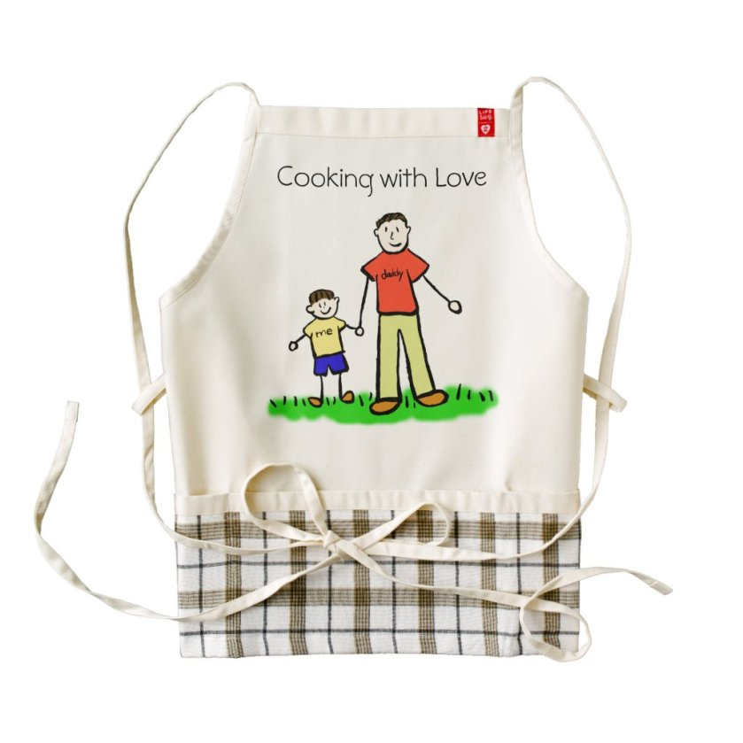 Daddy & Me Custom Father and Son Family Art Aprons