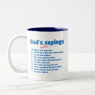 Dads favorite sayings mug mug