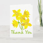 ❤️ Simple, Classic Pretty Daffodil Thank You Card