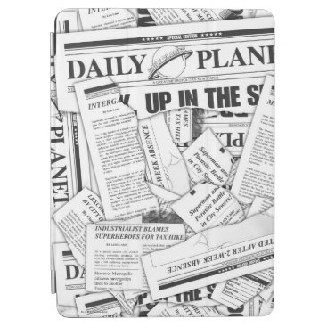 Daily Planet Pattern - White iPad Air Cover