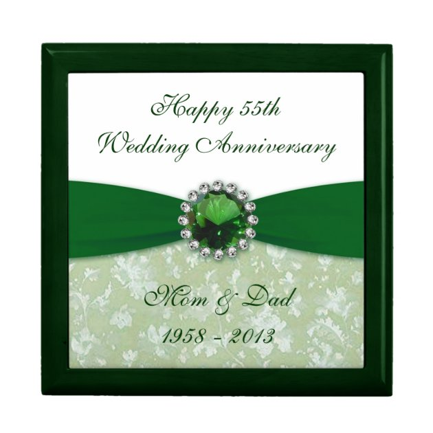 Damask 55th Wedding Anniversary Gift Box