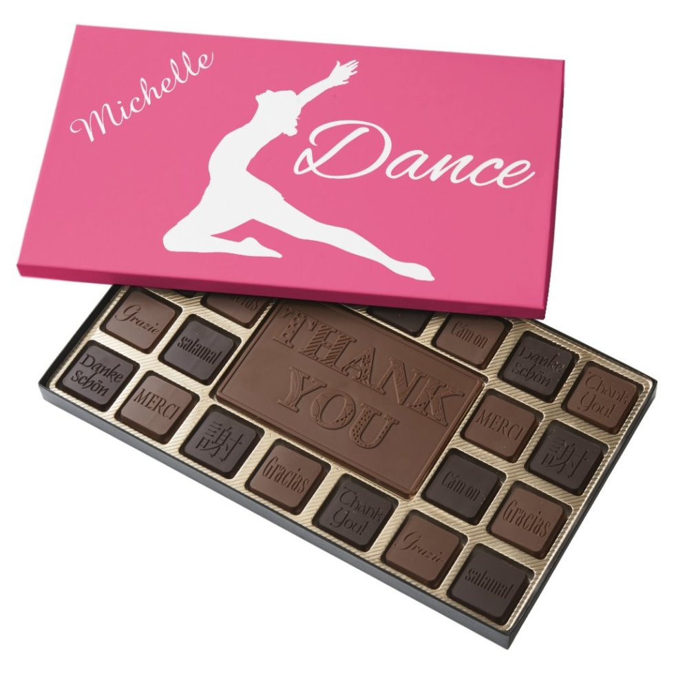 DANCE custom monogram & color chocolate box