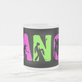 DANCE FROSTED GLASS COFFEE MUG