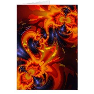 Dance of the Dragons - Indigo & Amber Eyes Card