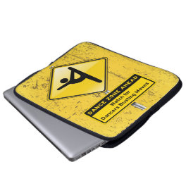Dance Zone Ahead-Watch for Dancers Busting Moves! Laptop Sleeve