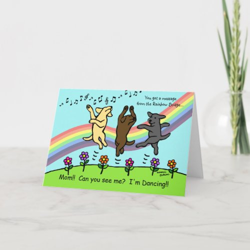 Dancing Labradors at the Rainbow Bridge Card