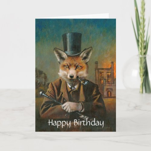 Dapper Fox Birthday Card