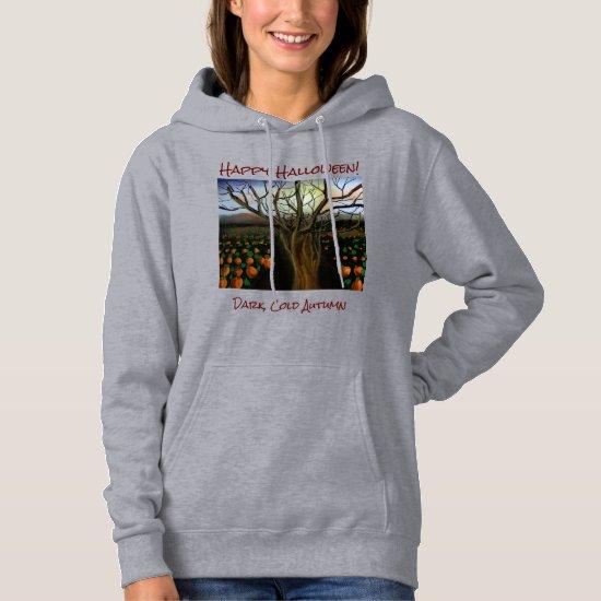 Dark Brown Cold Feelings Acrylic Painting Autumn Hoodie