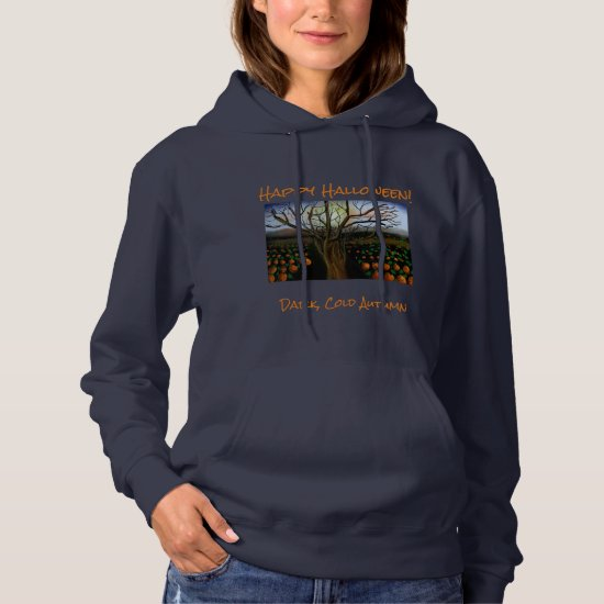 Dark Brown Cold Feelings Acrylic Painting Autumn Hoodie