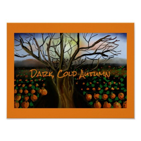 Dark Brown Cold Feelings Acrylic Painting Autumn