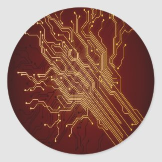 Dark Circuit Board Sticker