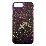 Dark Glitter Zodiac Sagittarius iPhone 7 Plus Case