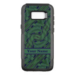 Dark Green Blue Abstract Shapes Pattern OtterBox Commuter Samsung Galaxy S8+ Case