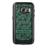 Dark Green Blue Abstract Shapes Pattern OtterBox Samsung Galaxy S7 Case