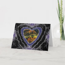 Dark Heart Valentine Romance Love Card