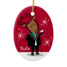Dasher Reindeer Personalized Ornament