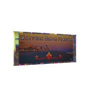 Daytona Beach Florida At Sunrise Panoramic Art Gallery Wrapped Canvas