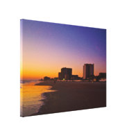 Daytona Beach Shores From East to West on Beach Stretched Canvas Print
