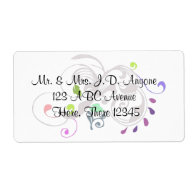 DBG© Swirls Personalized Shipping Label