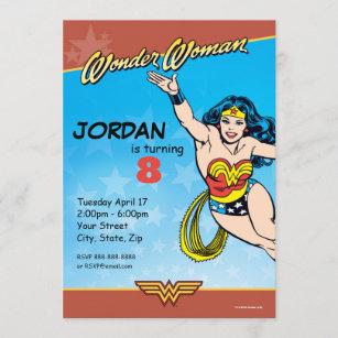 wonder woman invitations zazzle
