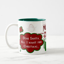 Dear Santa 2-Tone Mug - Personalize Name/Message