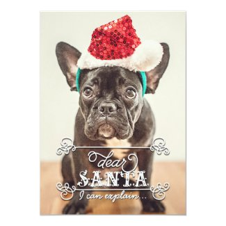 Dear Santa We Can Explain Holidays Photo Cards Custom Invite