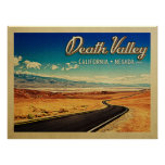 Death Valley National Park Vintage Travel Poster