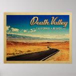 Death Valley National Park Vintage Travel Poster