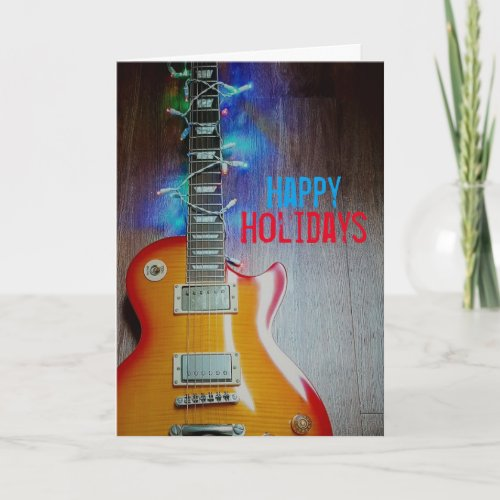 Deck the Guitar Holiday Card