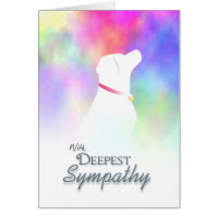 Deepest Sympathy - Dog Loss Dog Sympathy Card