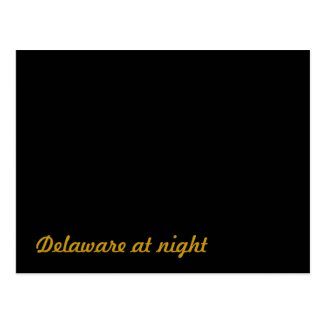 Delaware at night postcard