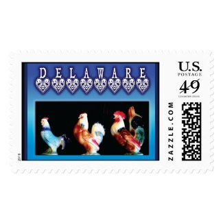 Delaware Blue Chickens Stamps