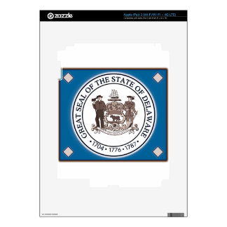 Delaware State Seal iPad 3 Decals