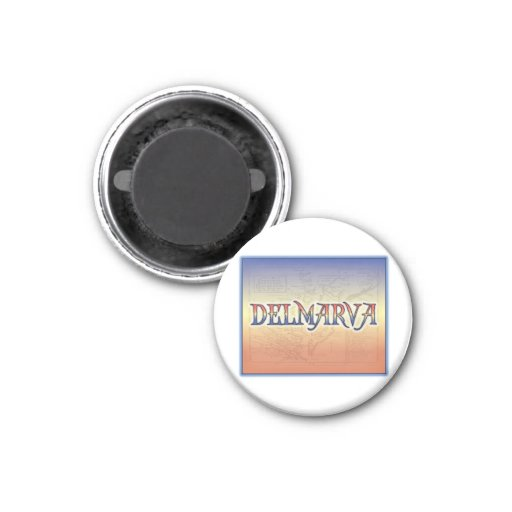 DelMarVa Antique Map 2 Inch Square Magnet