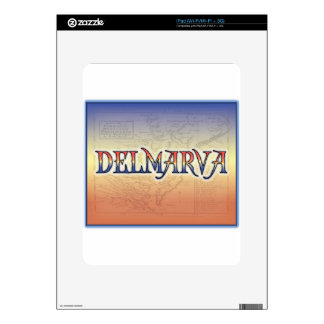 DelMarVa Antique Map Decals For iPad