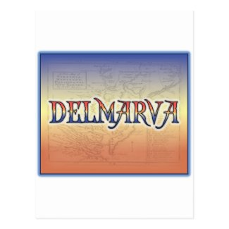 DelMarVa Antique Map Postcard