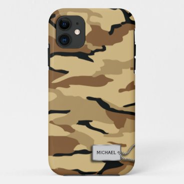 Desert Sand Military Camouflage iPhone 11 Case