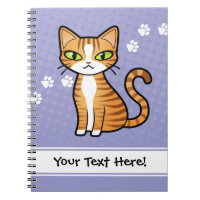 Design Your Own Cartoon Cat Notebook