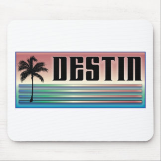 Destin Retro Rainbow and Palm Tree Mousepads