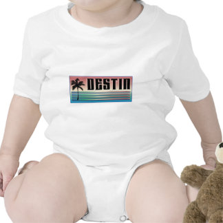 Destin Retro Rainbow and Palm Tree Shirts